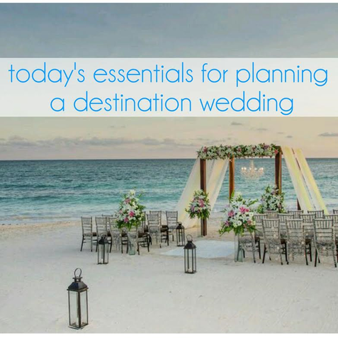 essentials when planning a destination wedding