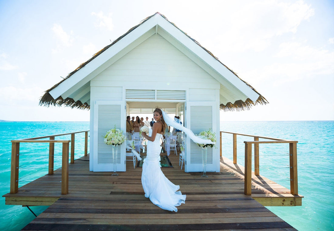Overwater chapel at Sandals South Coast